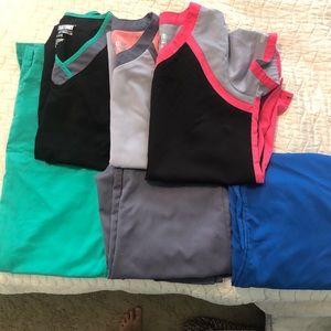 Bundle Grey's Anatomy Scrubs - 3 XS pants,3 S tops